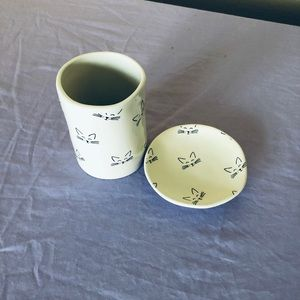 RAE DUNN cup and saucer cats kittens RARE 🐱
